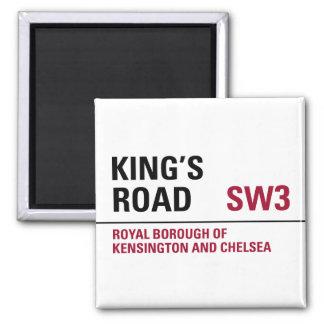 Kings Road Sign Refrigerator Magnet
