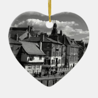 Kings Staith York river Ouse Ceramic Heart Decoration