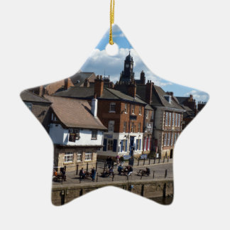 Kings Staith York river ouse Ceramic Star Decoration