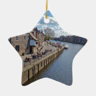 Kings Staith York river Ouse Christmas Ornament