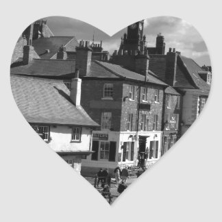 Kings Staith York river Ouse Heart Sticker