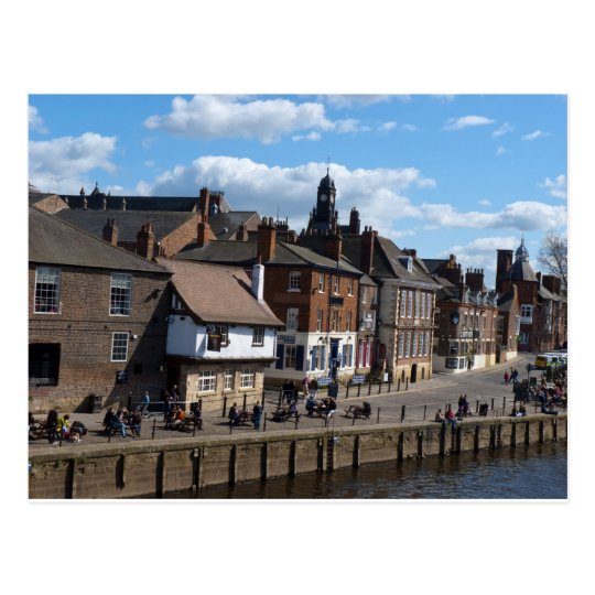 Kings Staith York river ouse Postcard
