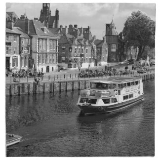 Kings Staithe in the City of York. Napkin