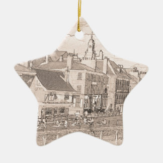 Kings Staithe York river Ouse Christmas Ornament