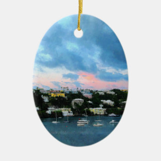 King's Wharf Bermuda Harbor Sunrise Christmas Ornament