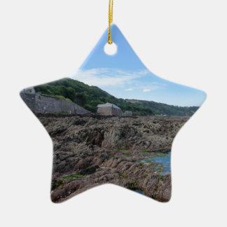 Kingsand: Rocky Cornish Beach Ceramic Star Decoration