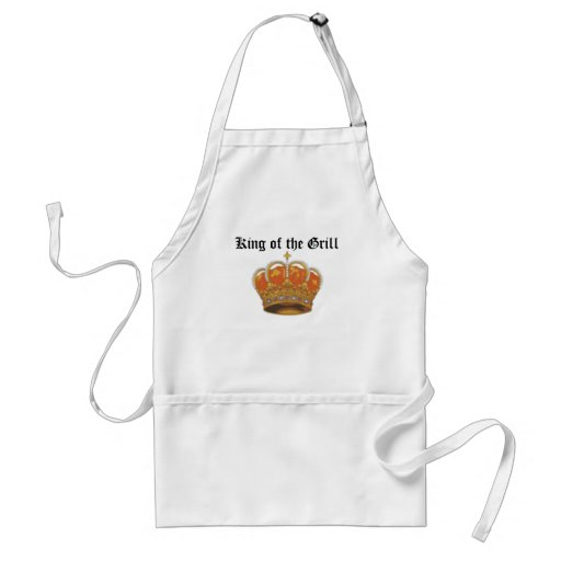 king'sCrown, King of the Grill Adult Apron