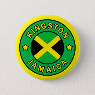 Kingston Jamaica 6 Cm Round Badge