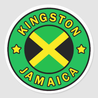 Kingston Jamaica Classic Round Sticker