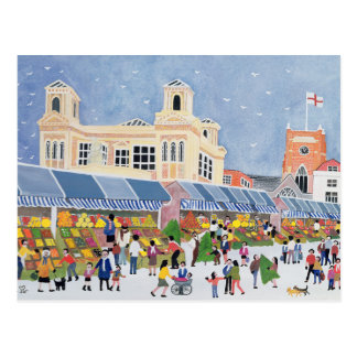 Kingston Market Surrey  2 Postcard