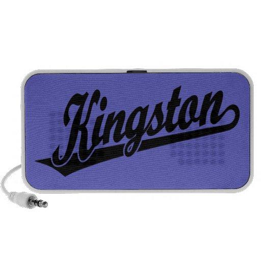Kingston script logo in Black Mp3 Speakers