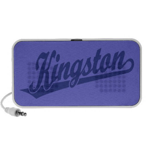Kingston script logo in Blue iPod Speaker