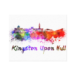 Kingston Upon Hull skyline in watercolor Stretched Canvas Prints
