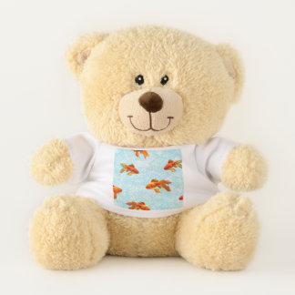 Kingyo Goldfish Blue Teddy Bear