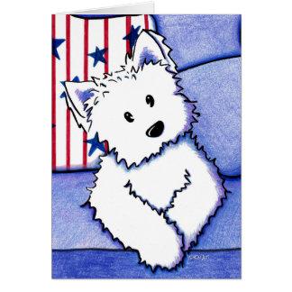KiniArt American Westie Card