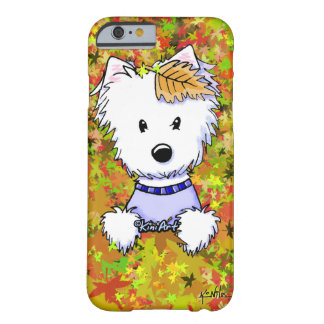 KiniArt Autumn Westie Barely There iPhone 6 Case