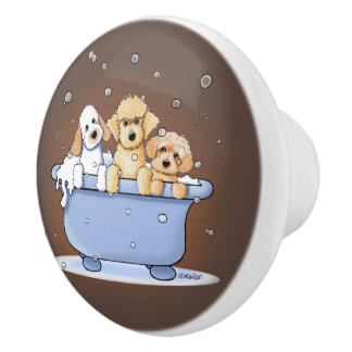 KiniArt Bath Doods Ceramic Knob