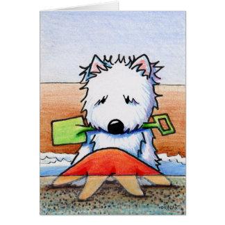 KiniArt Beach Westie Note Card