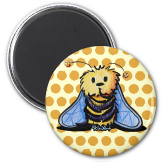 KiniArt Bee 6 Cm Round Magnet
