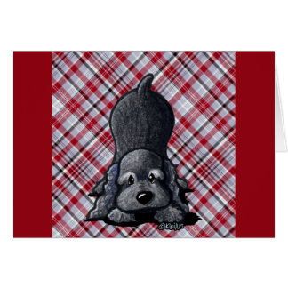 KiniArt Black Cocker Spaniel Card