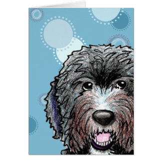 KiniArt Black Doodle Greeting Card