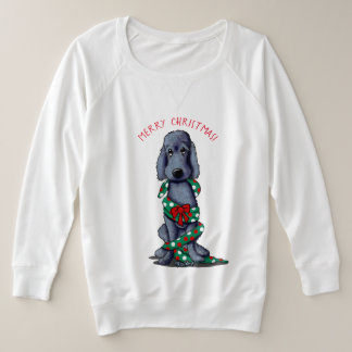 KiniArt Black Shaved Goldendoodle Plus Size Sweatshirt