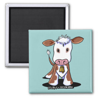KiniArt Cow Refrigerator Magnet