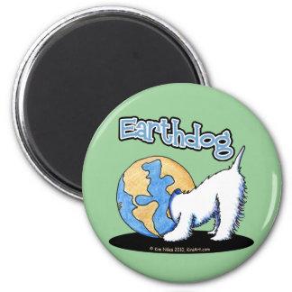 KiniArt Earthdog Westie Magnet