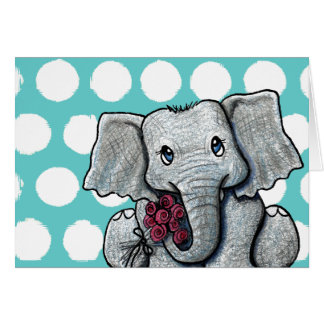 KiniArt Elephant Card