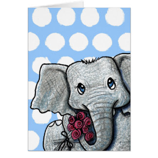 KiniArt Elephant Greeting Card
