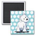 KiniArt Fluffy Butt Westie Dog Magnet