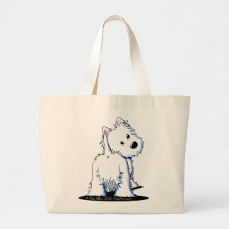 KiniArt Fluffy Butt Westie Tote Bag