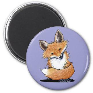KiniArt Fox 6 Cm Round Magnet