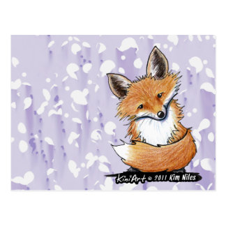 KiniArt Fox Postcard