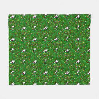 KiniArt Garden Westies Fleece Blanket