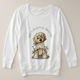 KiniArt Goldendoodle Delightful Christmas Plus Size Sweatshirt