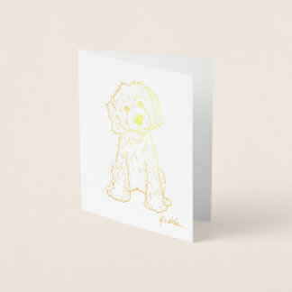 KiniArt Goldendoodle Gold Foil Foil Card
