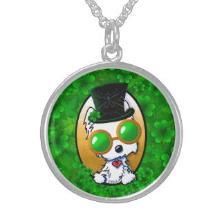 KiniArt Lucky Westie Sterling Silver Necklace