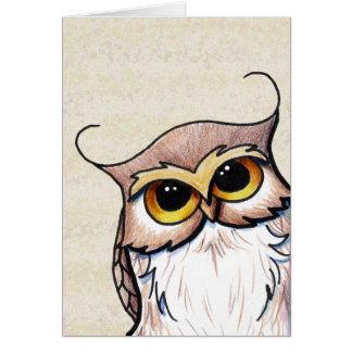 KiniArt Owl Card