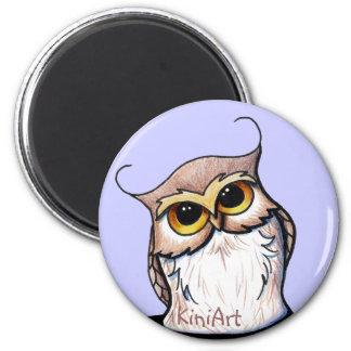 KiniArt OWL 6 Cm Round Magnet