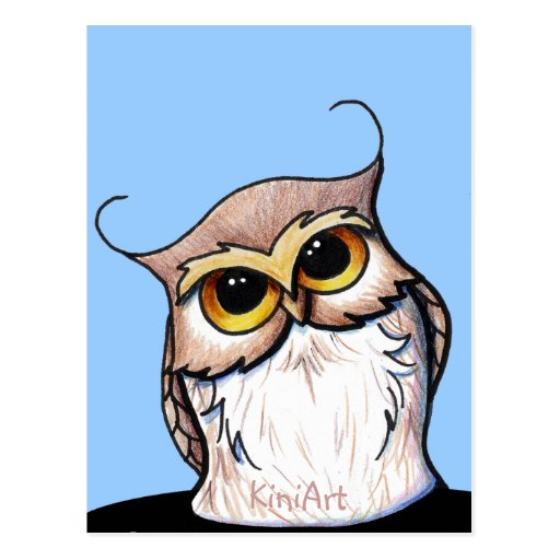 KiniArt OWL Post Cards