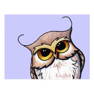 KiniArt OWL Post Card