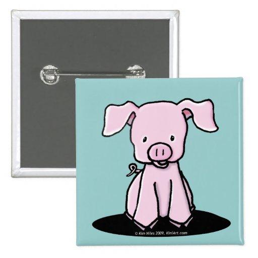 KiniArt Piglet Pin Button