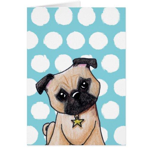 KiniArt Pug Card