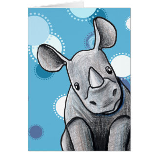 KiniArt Rhino Card