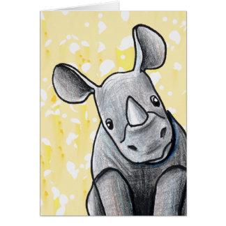 KiniArt Rhino Greeting Card