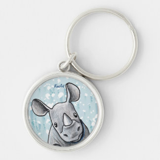 KiniArt Rhino Key Ring