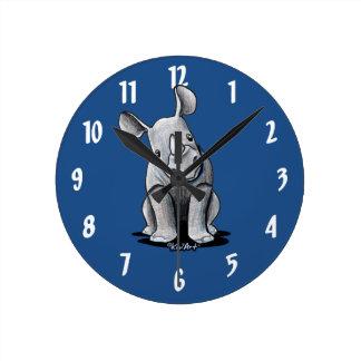 KiniArt Rhino Round Clock
