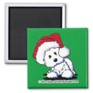 KiniArt Santa Baby Westie Dog Magnet