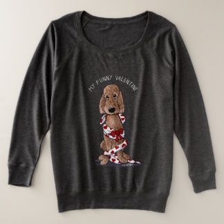 KiniArt Shaved Chocolate Doodle Valentine Plus Size Sweatshirt